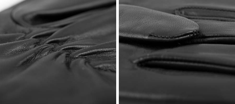 Nappa leather details